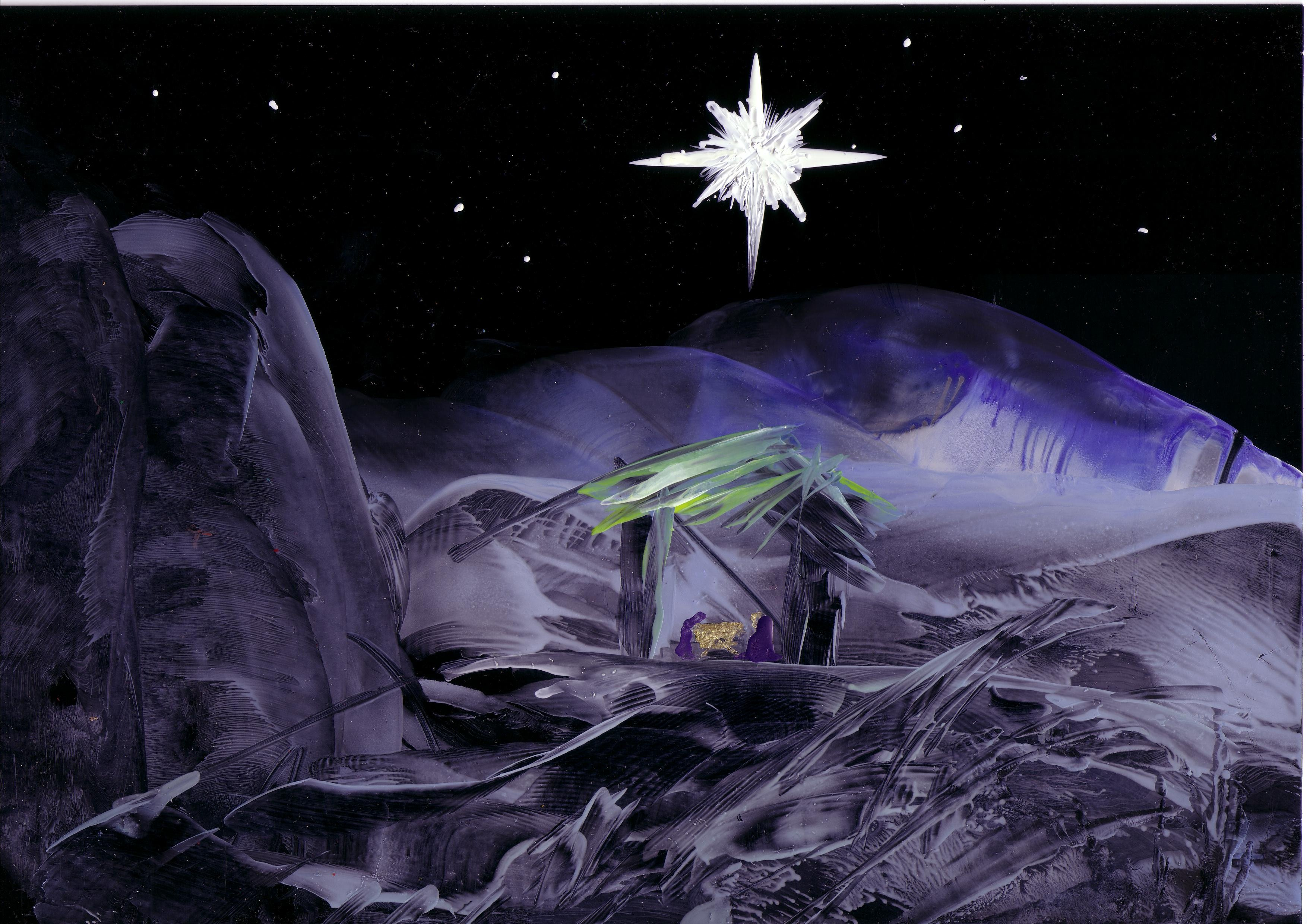 ... Photos - Nativity Isus Marija Josip Purple Nativity Light Star Cross